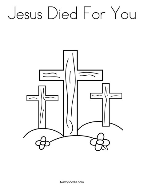 jesus on the cross coloring page # 9