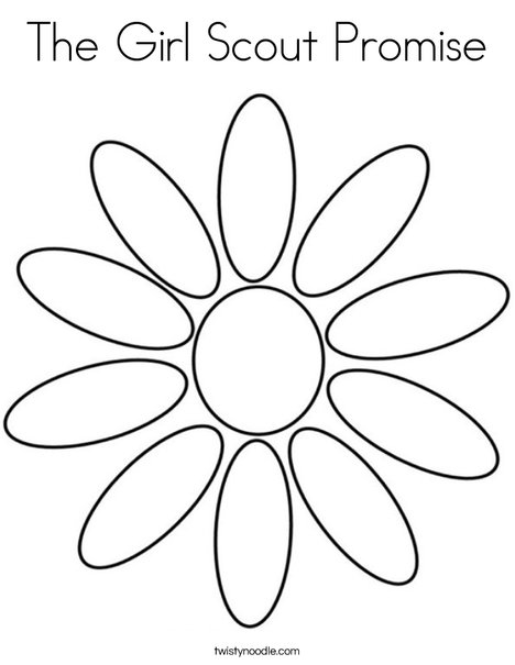girl scout promise coloring page # 6