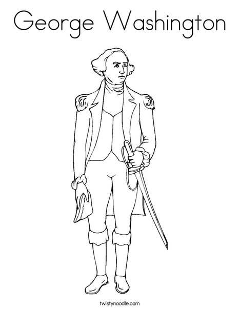 Cartoon President Washington Clip Art