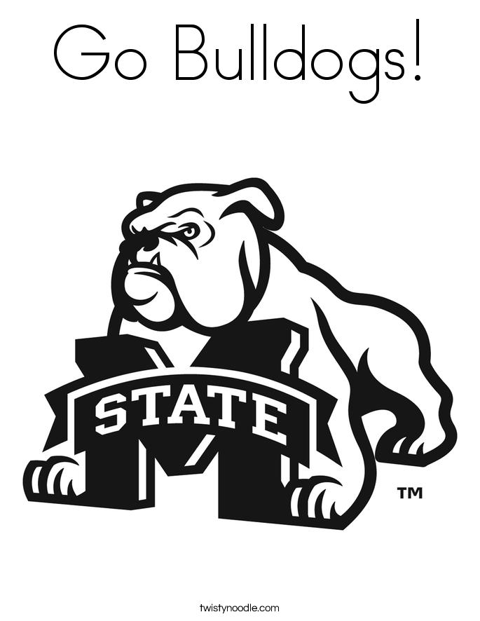 Georgia Bulldogs Coloring Printables