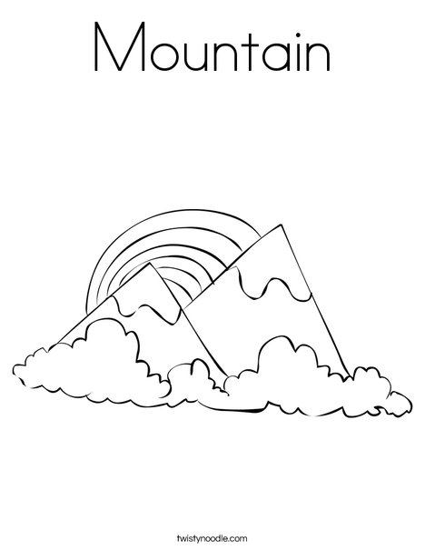 mountain coloring page # 8