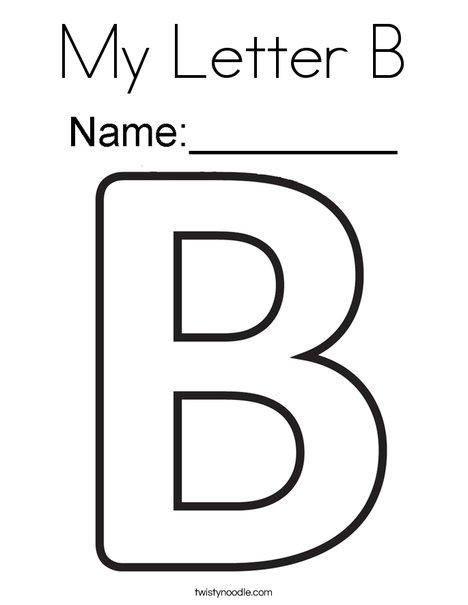 letter b coloring page # 1