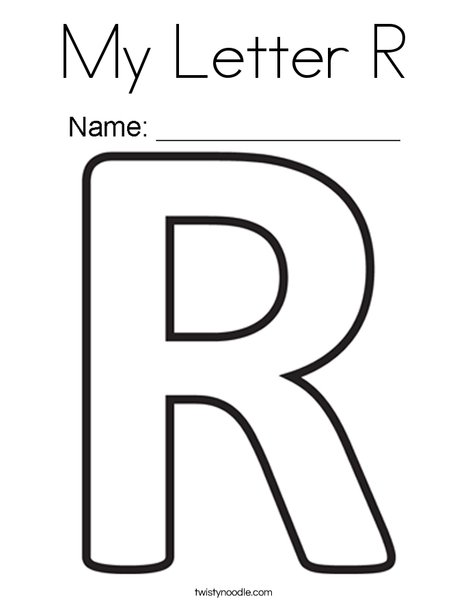 letter r coloring page # 0