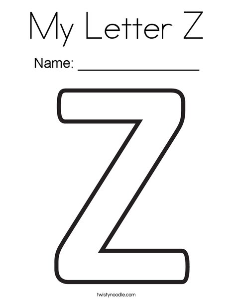 letter z coloring page # 3