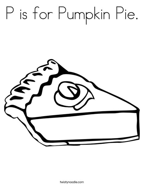 pie coloring page # 7