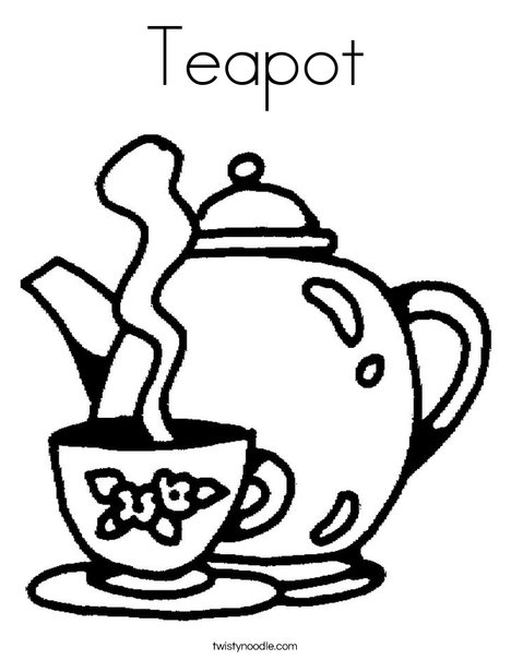 teapot coloring page # 3