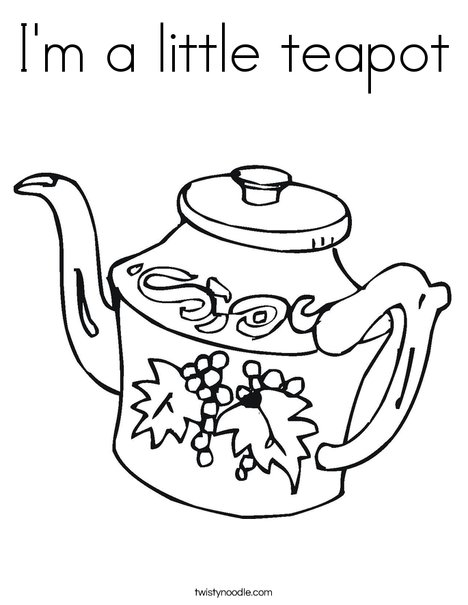 teapot coloring page # 4