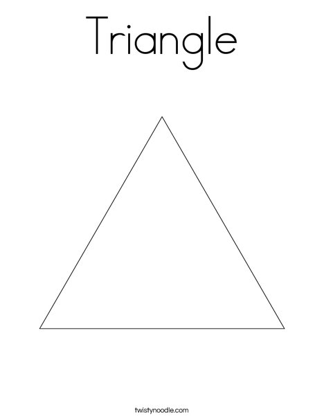 triangle coloring page # 2