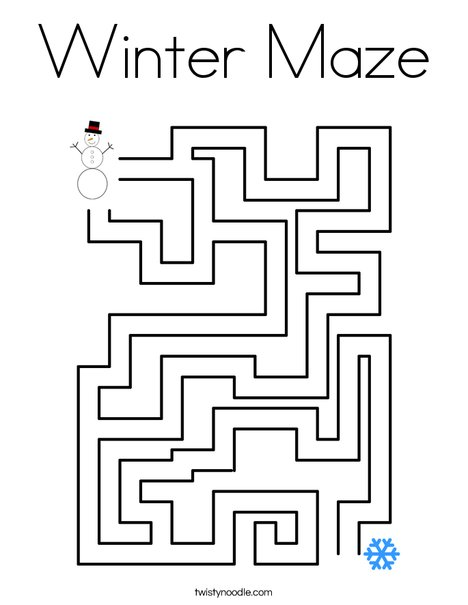 maze coloring pages # 21