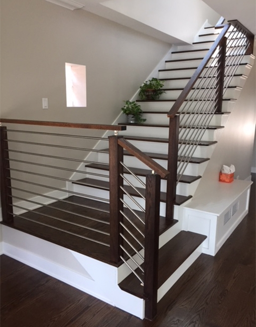 Contemporary Newel Post For Modern Stair Railings 7800 Modern | Knotty Pine Stair Railing | Tongue Groove | Antique Wooden Stair | Log | White | Newel Post