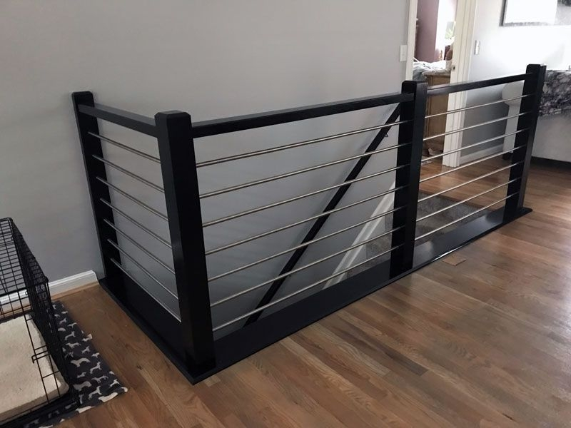 Modern Stair Railing Only 15 00 4492 Modern Box Newel 4 3 4 | Black Iron Pipe Handrail | Cast Iron | Horizontal Pipe | Paint Pipe | Stair Outdoor Decatur | Railing Aluminium Pipe