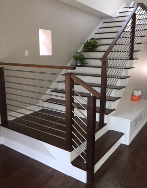 Modern Stair Railing Span Stainless Steel Span Stair Parts   Modern Stair Railings Interior   Brushed Nickel   Outdoor Stair   Wrought Iron   Balcony   Wall Mounted