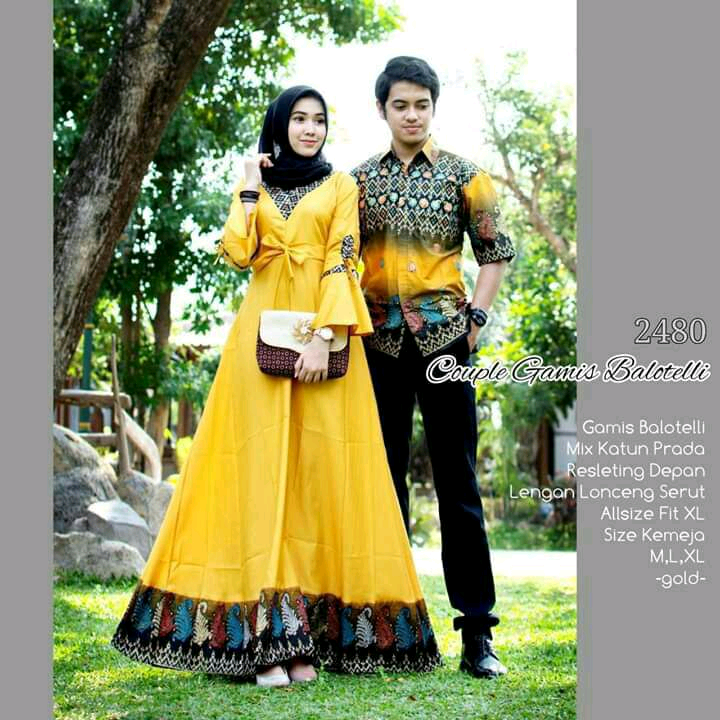 Model Baju Batik Couple Kombinasi Terbaru 21