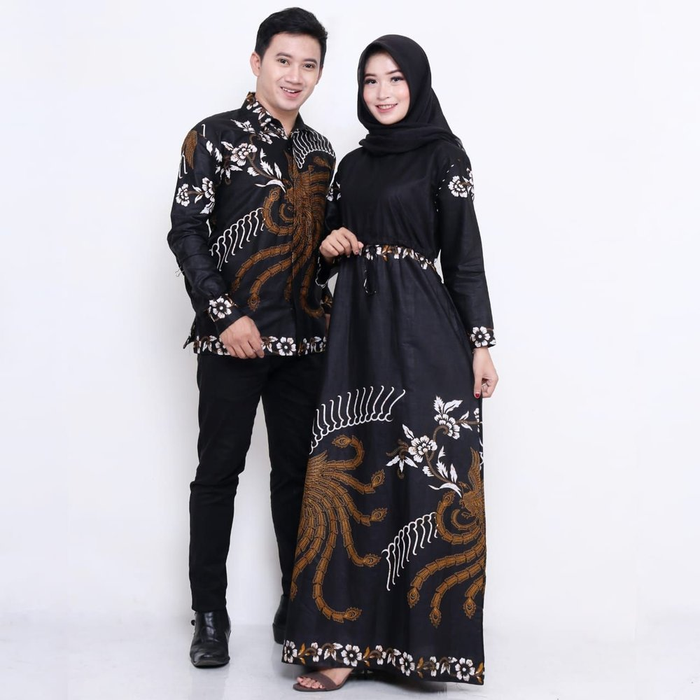 Model Baju Batik Gamis Couple 13