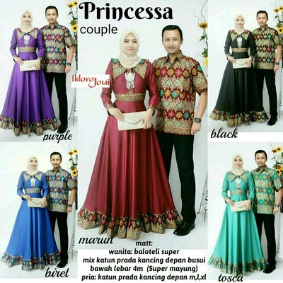 Model Baju Batik Gamis Couple 4