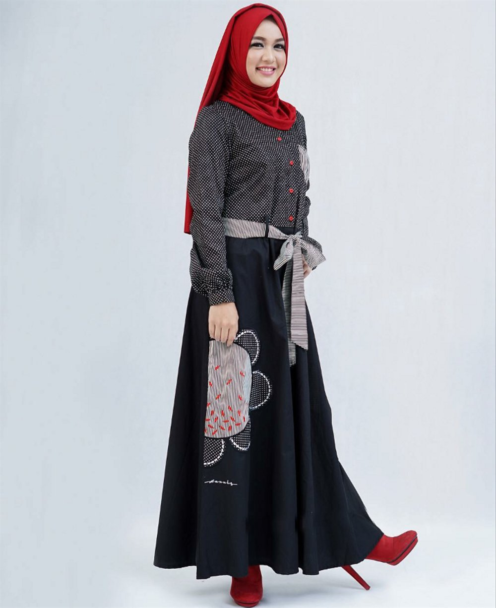 Gamis Abaya The Black And White By Dannis
