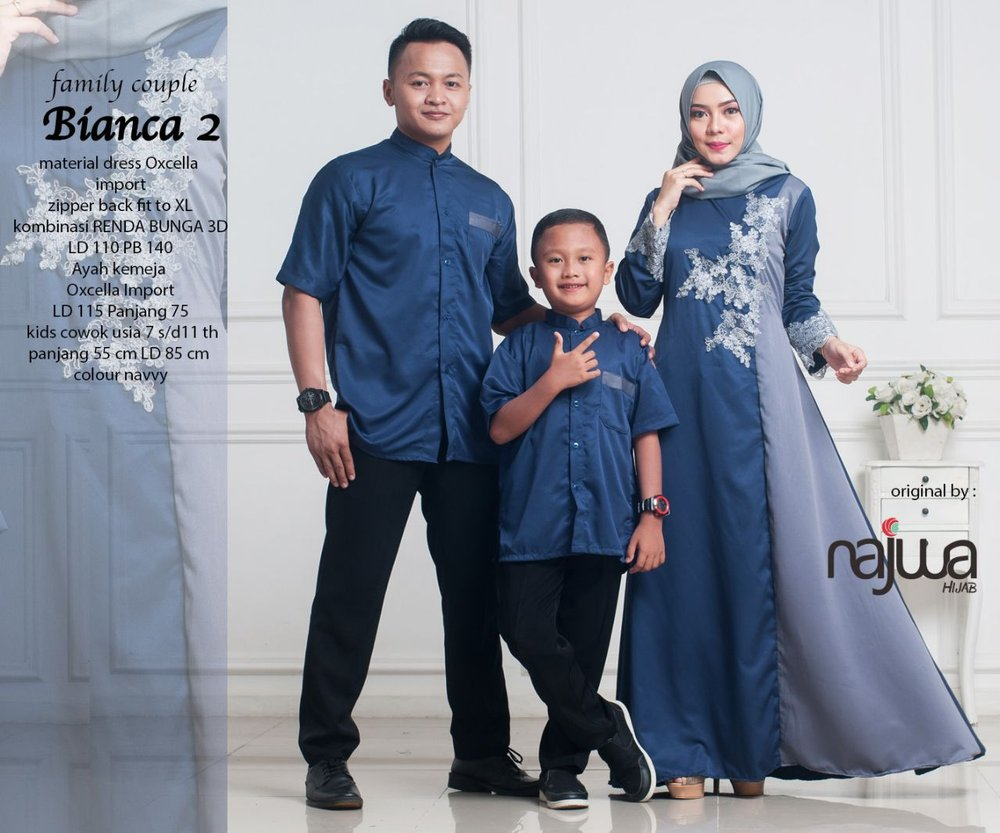 Baju Couple Family Couple Bianca  Couple Muslimah Ayah Ibu Anak Laki Laki Couple Hijab Couple