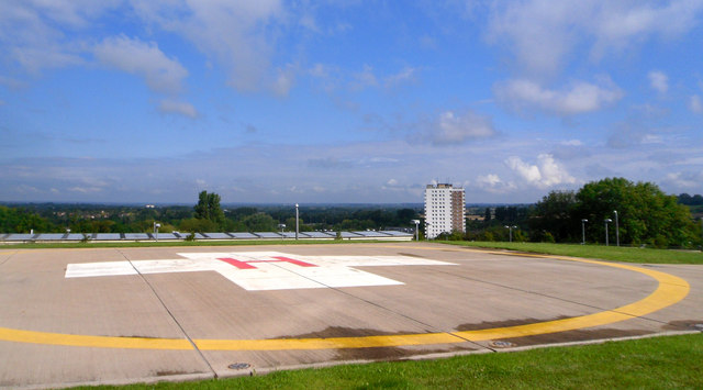 Hospital Helicopter Landing Site 169 Des Blenkinsopp Geograph Britain And Ireland