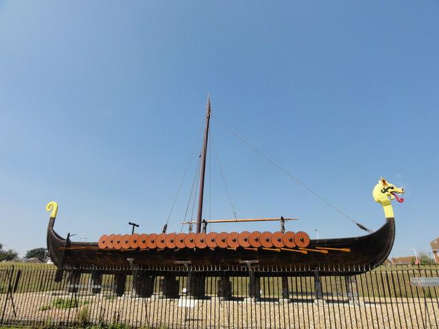 Cliffsend A256 Viking Longboat Hugin 169 Helmut Zozmann