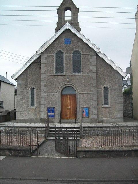 Carnlough Presbyterian Church Harbour 169 Eric Jones Cc