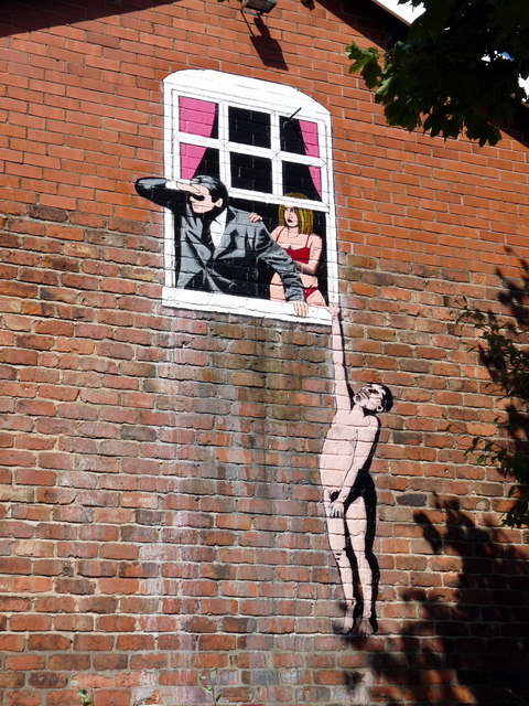 Naked Man Hanging From Window 169 Paul Charlesworth Cc By Sa