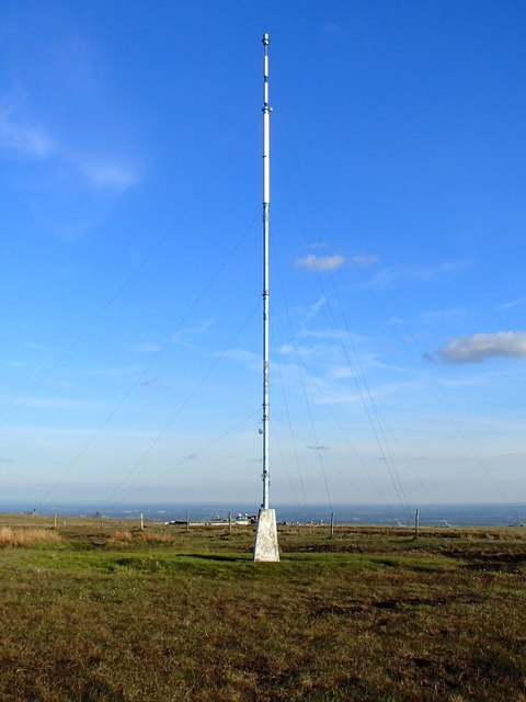 Winter Hill Trig Pillar And Mast 169 Adam C Snape