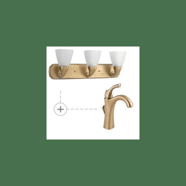 light fixtures that match delta champagne bronze # 2