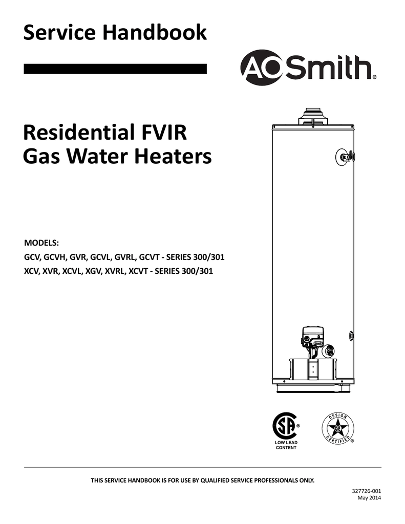 Ao Smith Water Heater Gcv 40
