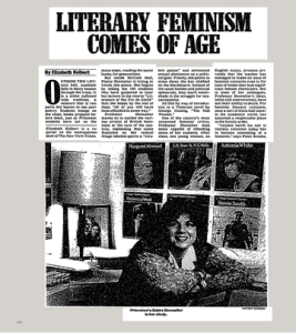 LITERARY FEMINISM COMES OF AGE   The New York Times The article as it originally appeared