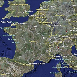 Satellite image map of France  location and physical feature   ThingLink