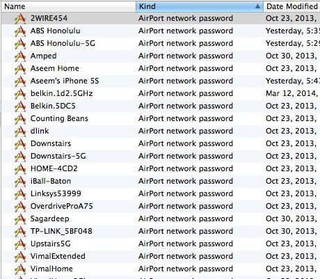 View Saved Wi Fi Wpa Wep Passwords On Os X