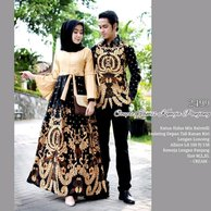 Model Gamis Kombinasi Couple 19