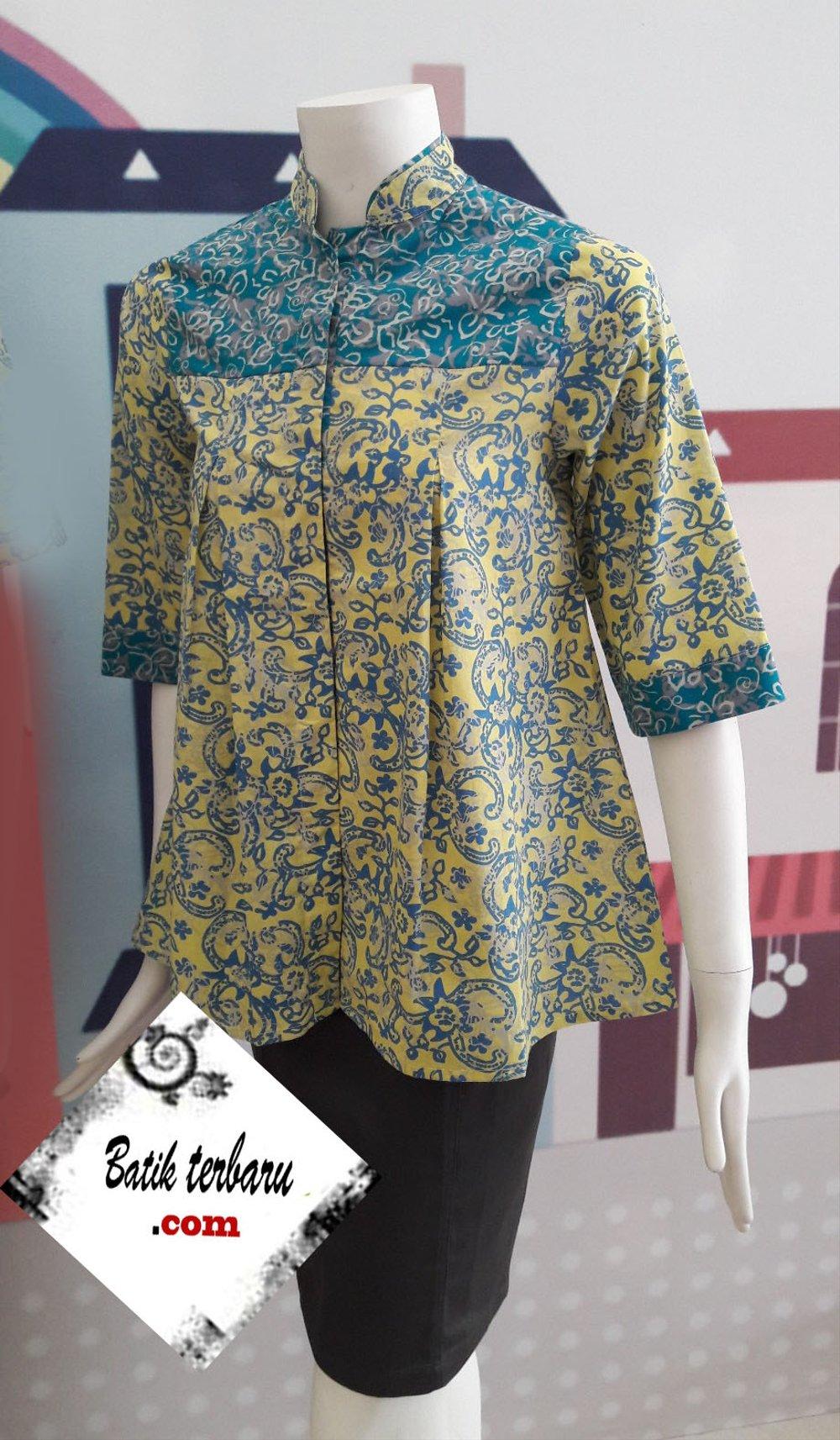 Model Baju Batik Kerja Guru AC0023