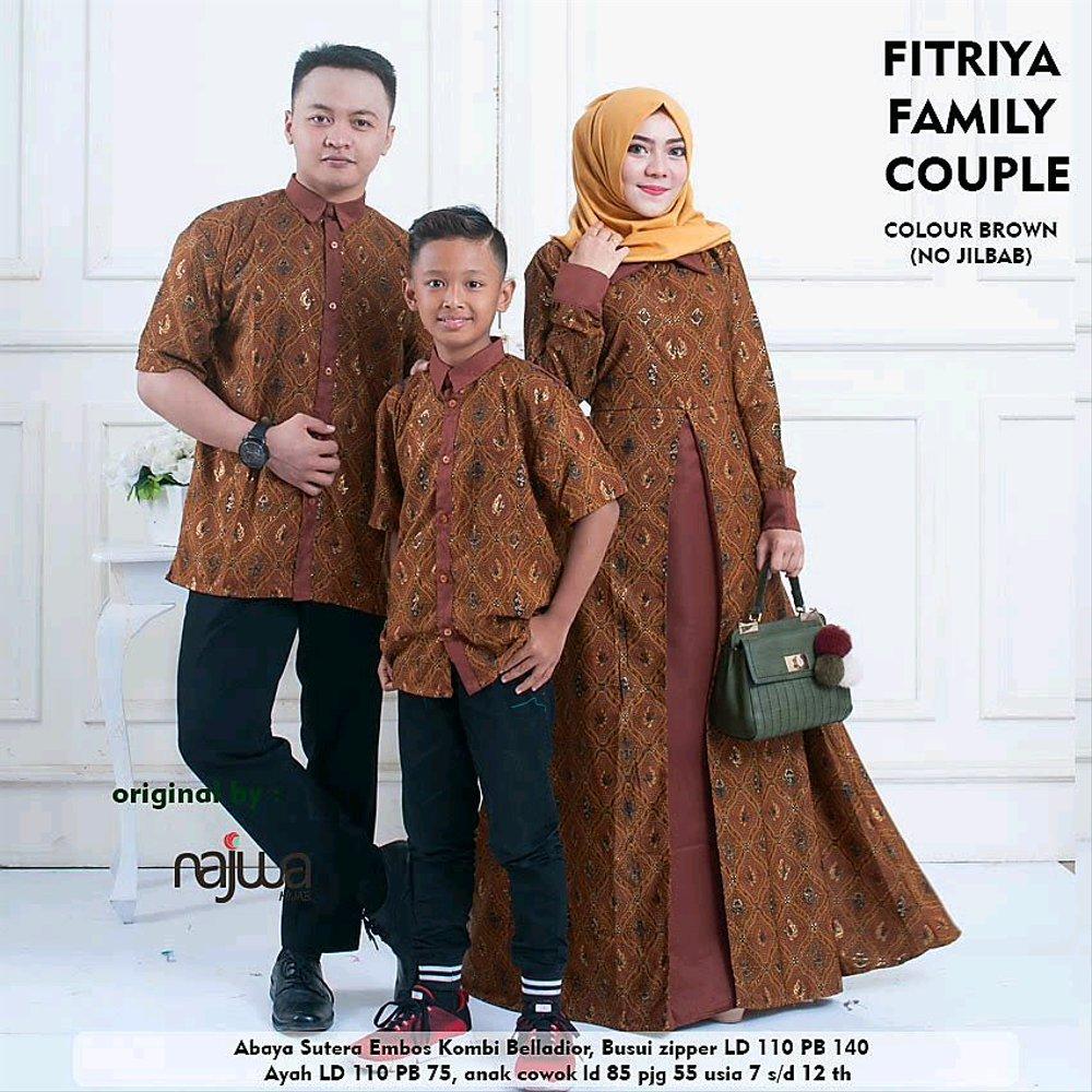 Baju Batik Anak Muslim: 30+ Model Gamis Couple Ayah Ibu Anak