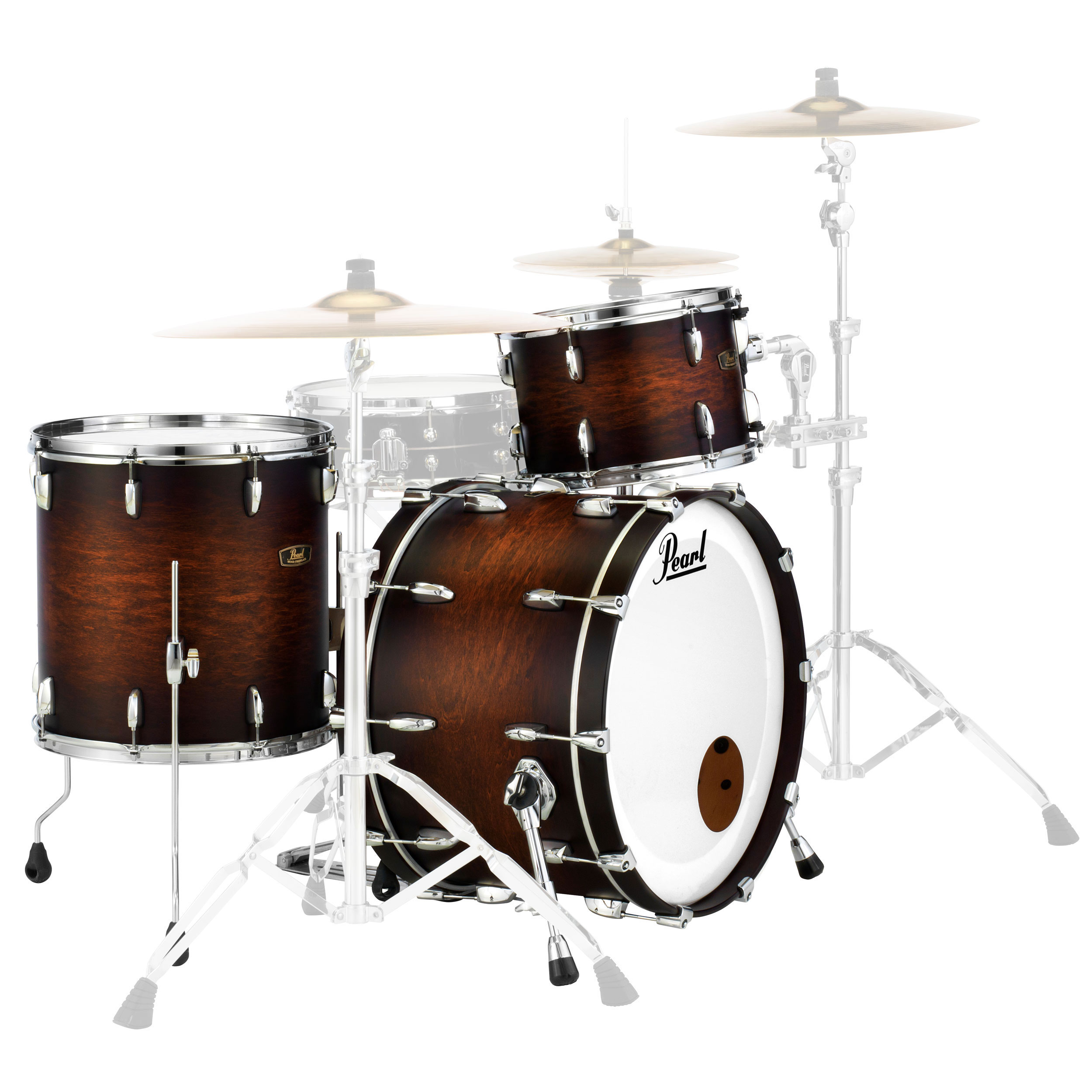Pearl Wood Fiberglass 3 Pc Drum Set Shell Pack  22  Bass  13 16     Alternate Image for Pearl Wood Fiberglass 3 Piece Drum Set Shell Pack  22