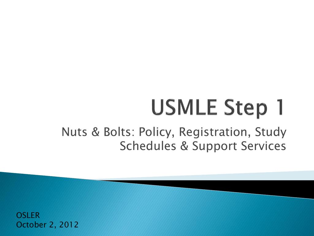 Step Scheduling Usmle 2