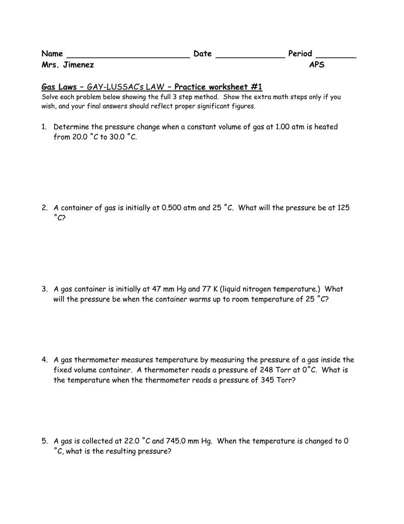 worksheet Pressure Problems Worksheet ideal gas law practice worksheet free worksheets library download g s l w problems ksheet ksheets libr ry downlo d nd