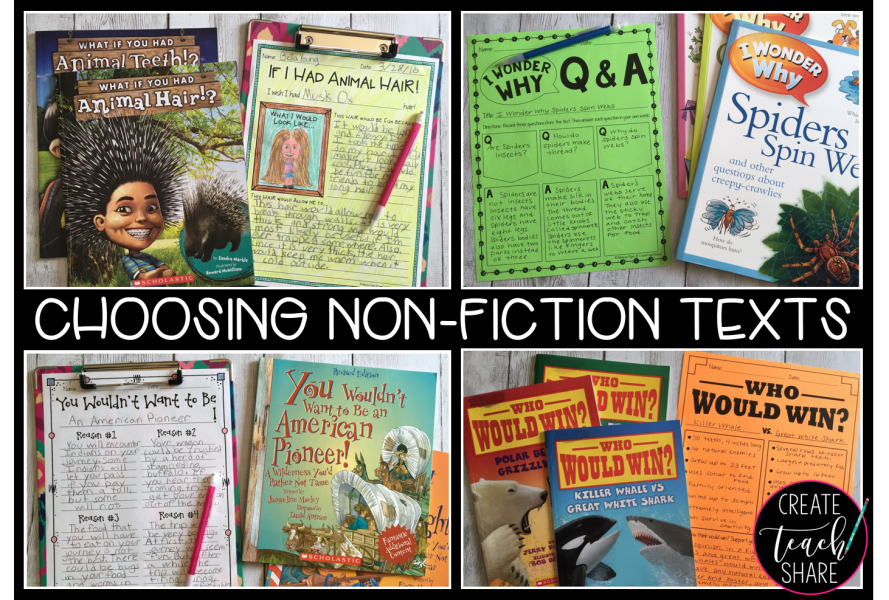 Ideas for Exploring Non Fiction in the Elementary Classroom   The     Choosing Non Fiction Texts to Engage Readers