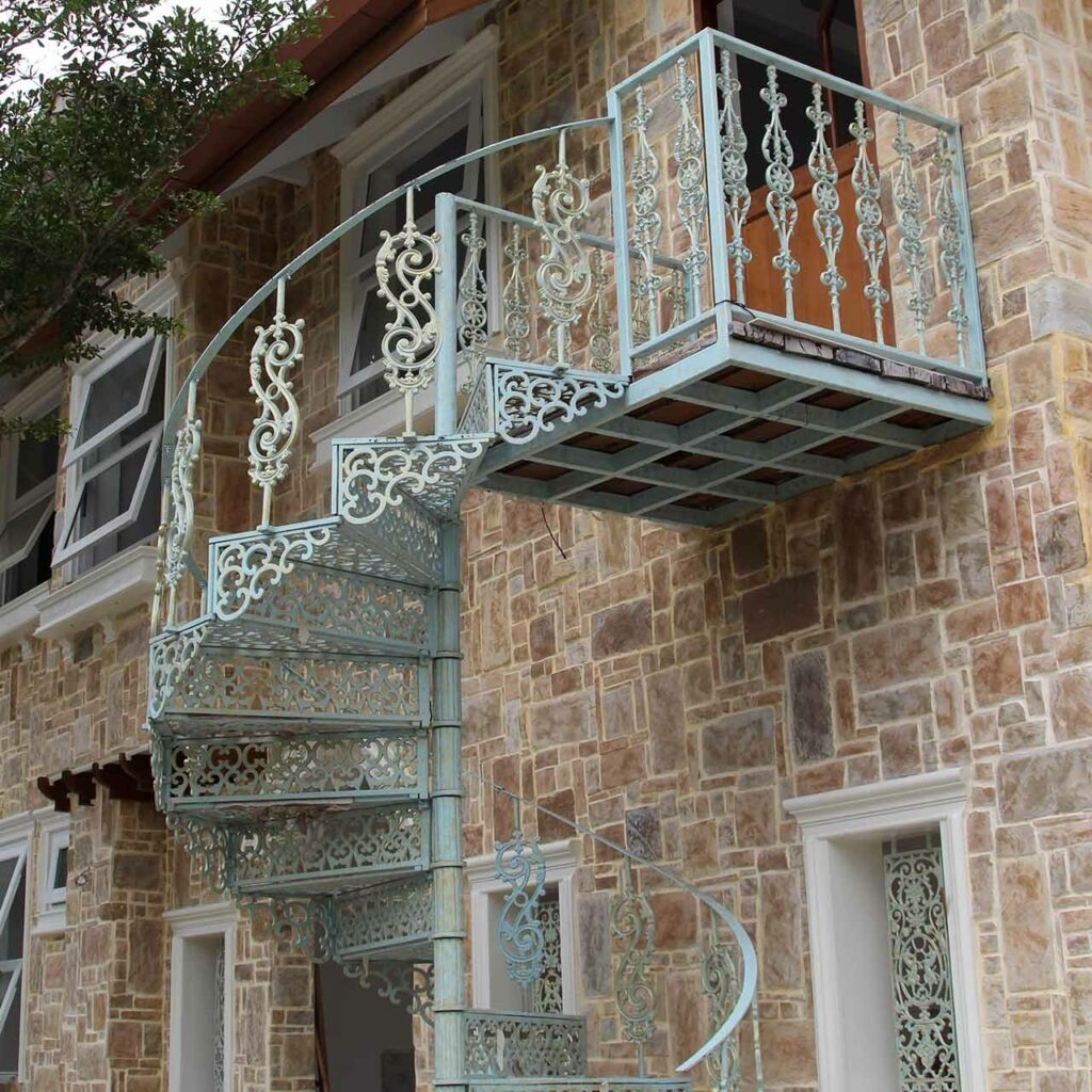 Outside Staircase Designs India   Stairs Design Outside Home   Single   Steel   Length   Contemporary Exterior   Stairway Outside