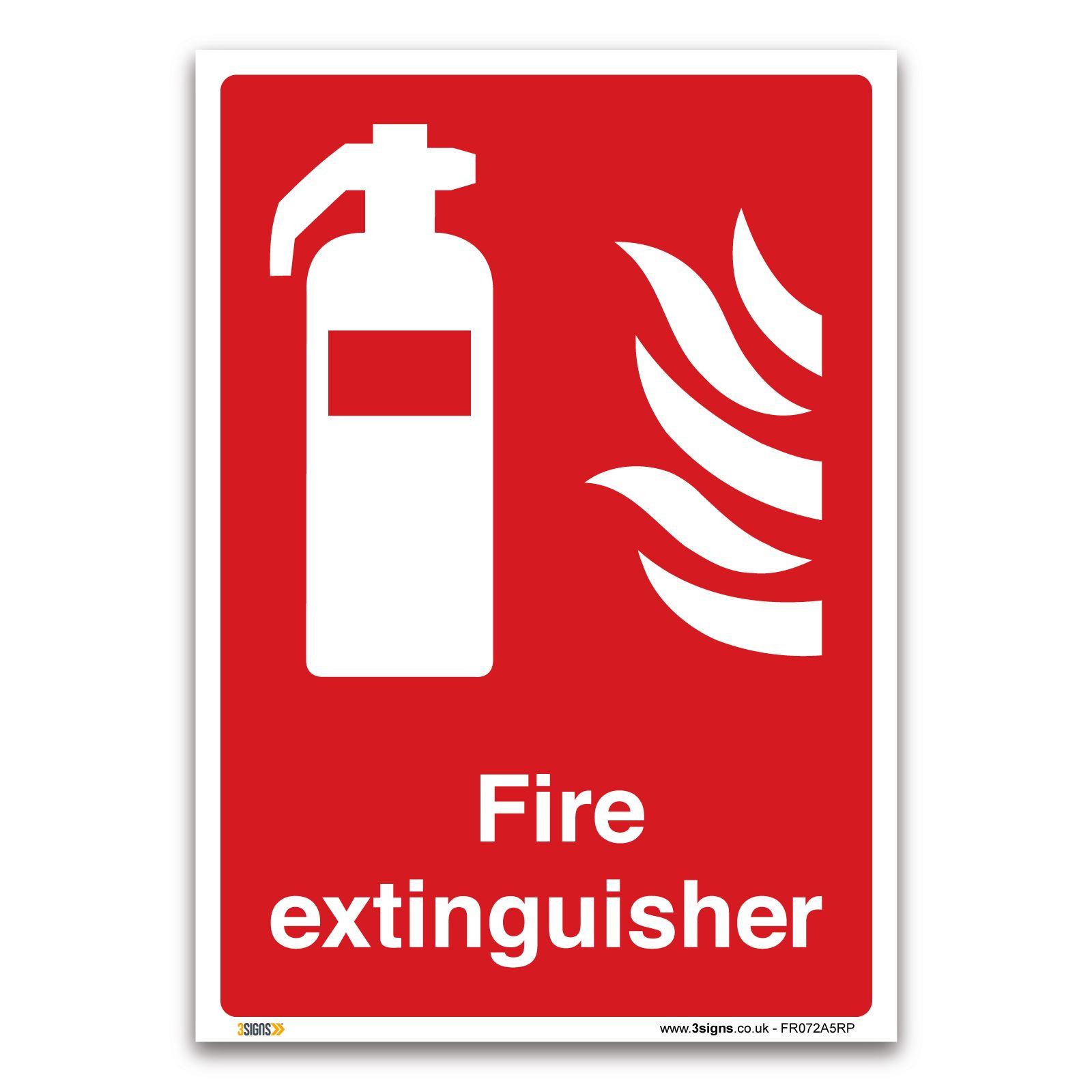 Fire extinguisher Sign - 1mm Rigid Plastic Sign - Fire ...
