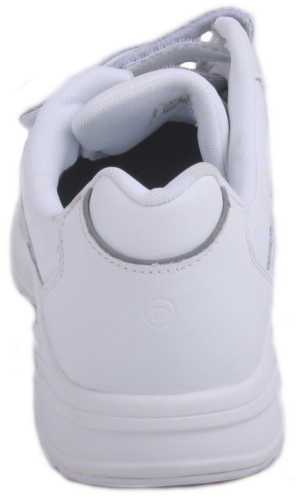 Rockport Piermont Mens White Leather Velcro Walking Shoes