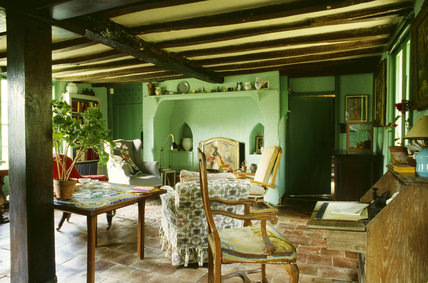 The Sitting Room At Monk S House Painted In The Green