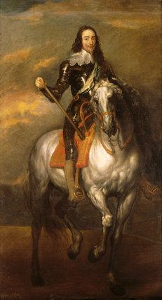 Charles I On Horseback 1600 1649 Studio Of Anthony Van