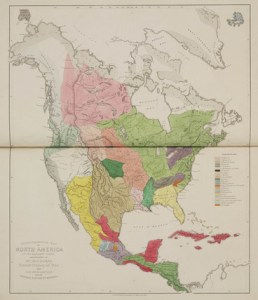 Ethnographical Map of North America  in the Earliest Times   1843      Ethnographical Map of North America  in the Earliest Times   1843