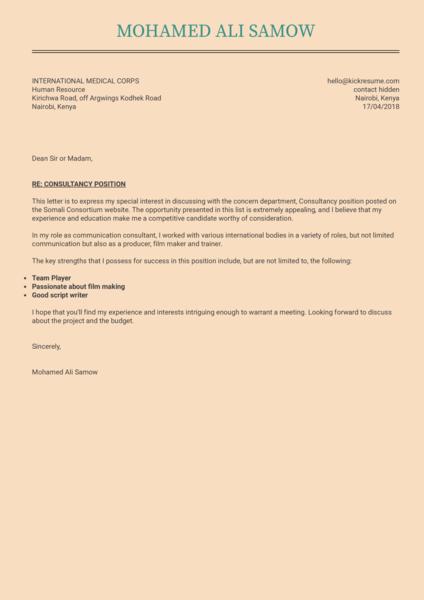 Communication Samples Letter Coordinator Cover