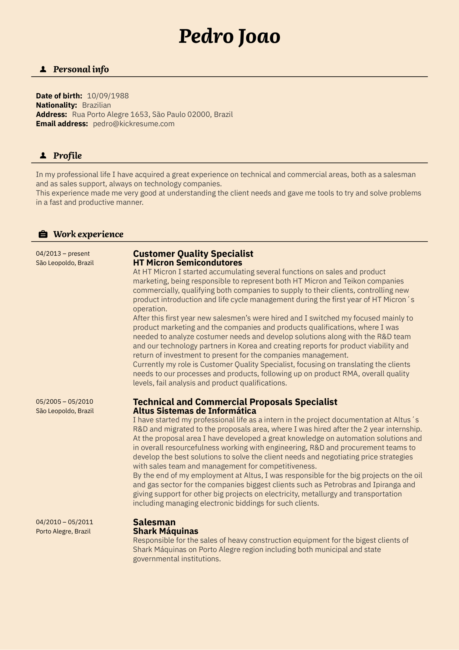 Resume Examples By Real People Customer Specialist Resume