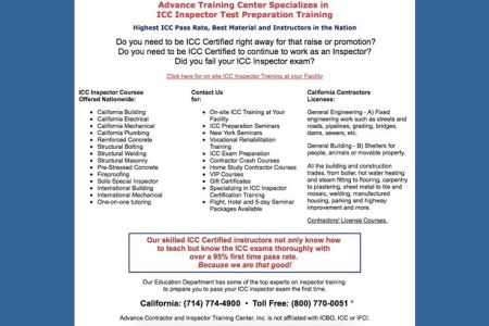 Free Resume Sample » icc building inspector certification classes ...