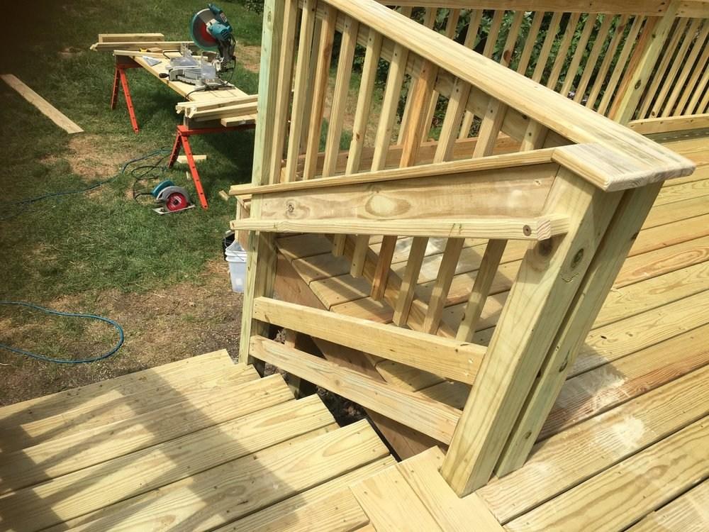 2016 Elmhurst Pressure Treated Deck Notice The Necessary | Pressure Treated Graspable Handrail