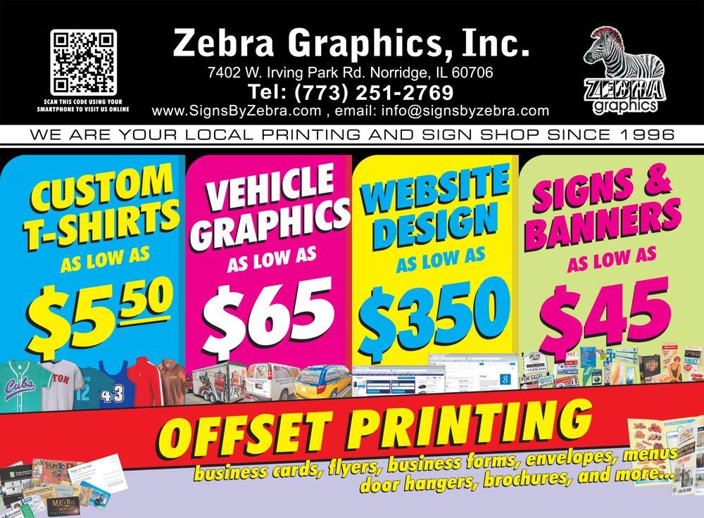 Zebra Graphics - Get Quote - Signmaking - 7402 W Irving ...