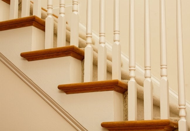 How To Install Carpet On Stairs Bob Vila | Installing Carpet Stair Treads | Anti Slip | Bullnose Carpet | Stair Risers | Indoor Stair | Wooden Stairs